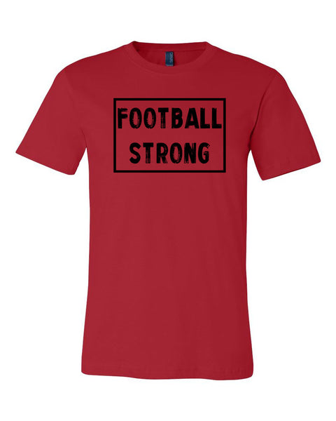 Red Football Strong Adult Football T-Shirt