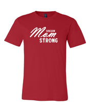 Red Soccer Mom Strong Adult Soccer T-Shirt