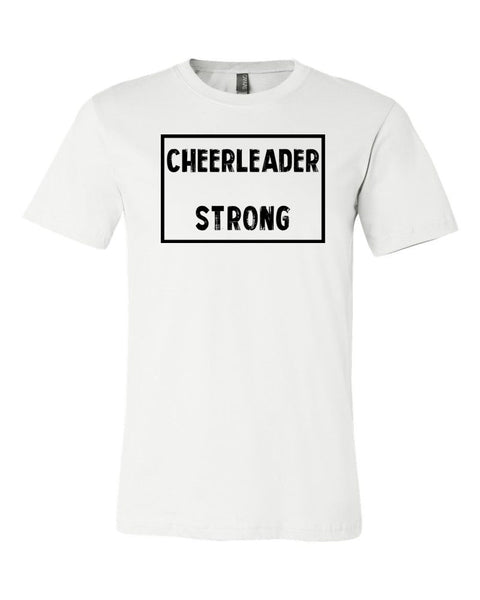 White Cheerleader Strong Adult Cheer T-Shirt