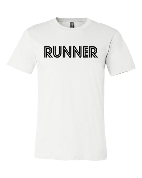 White Runner Adult Runner T-Shirt