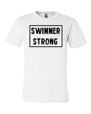 White Swimmer Strong Adult Swim T-Shirt