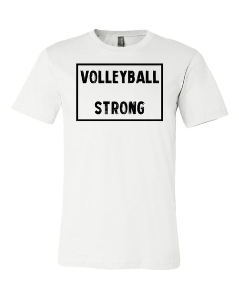 White Volleyball Strong Adult Volleyball T-Shirt