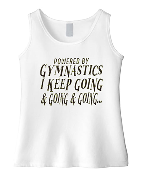 Powered By Gymnastics Girls Tank Top