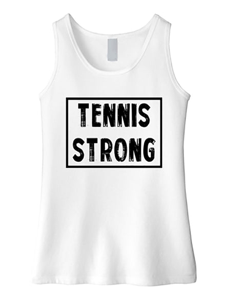 Tennis Strong Girls Tank Top