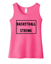 Basketball Strong Girls Tank Top
