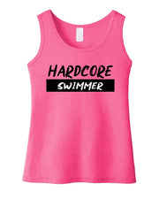 Hardcore Swimmer Girls Tank Top