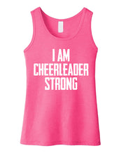 I Am Cheerleader Strong Girls Tank Top