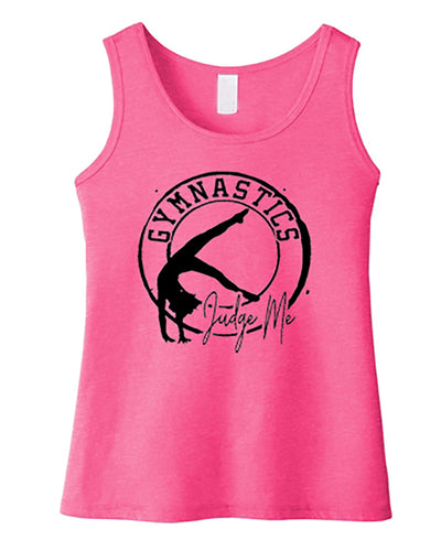 Gymnastics Judge Me Girls Tank Top