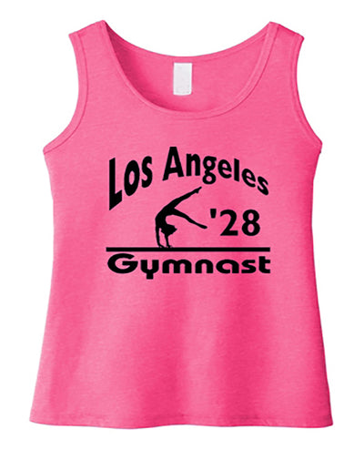 LA 2028 Gymnast Girls Gymnastics Tank Top