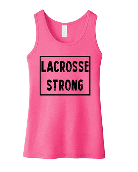Lacrosse Strong Girls Tank Top