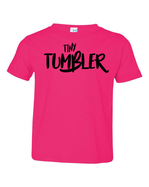 Hot Pink Tiny Tumbler Toddler Gymnastics T-Shirt