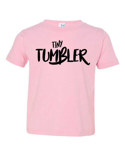 Pink Tiny Tumbler Toddler Gymnastics T-Shirt