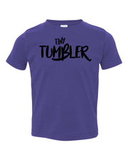 Purple Tiny Tumbler Toddler Gymnastics T-Shirt