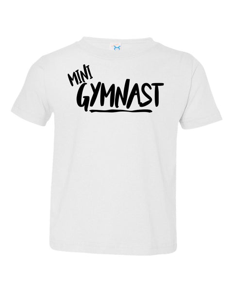 White Mini Gymnast Toddler Gymnastics T-Shirt