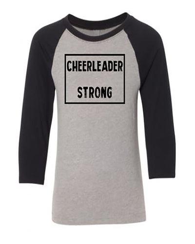 Cheerleader Strong Youth 3/4 Sleeve Raglan T-Shirt