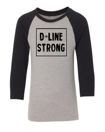 D-Line Strong Youth 3/4 Sleeve Raglan T-Shirt