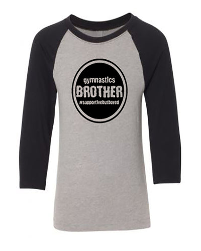 Gymnastics Brother Youth 3/4 Sleeve Raglan T-Shirt