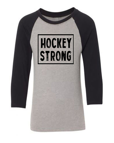 Hockey Strong Youth 3/4 Sleeve Raglan T-Shirt