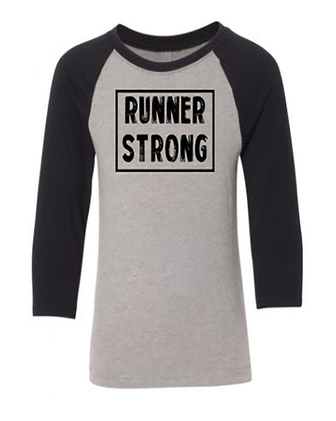 Runner Strong Youth 3/4 Sleeve Raglan T-Shirt