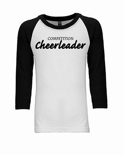 Competition Cheerleader Youth 3/4 Sleeve Raglan T-Shirt