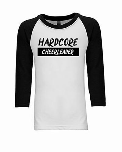 Hardcore Cheerleader 3/4 Sleeve Raglan Youth T-Shirt