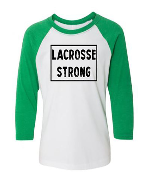 Lacrosse Strong 3/4 Sleeve Raglan Youth T-Shirt