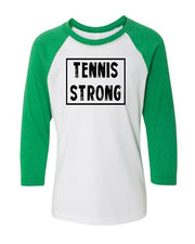 Tennis Strong Youth 3/4 Sleeve Raglan T-Shirt