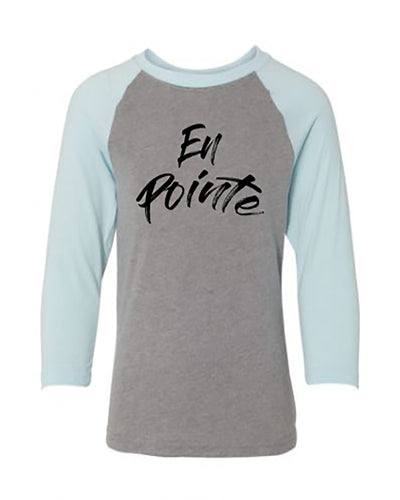 En Pointe Youth 3/4 Sleeve Raglan T-Shirt