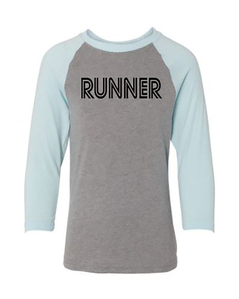 Runner Youth 3/4 Sleeve Raglan T-Shirt
