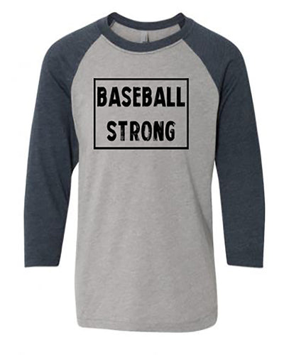 Baseball Strong Youth 3/4 Sleeve Raglan T-Shirt