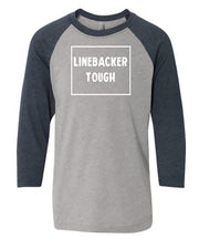 Linebacker Tough Youth 3/4 Sleeve Raglan T-Shirt