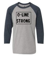 O-Line Strong Youth 3/4 Sleeve Raglan T-Shirt