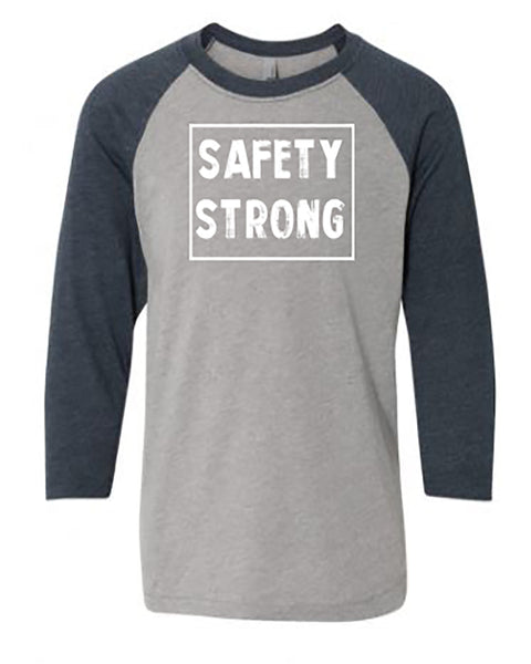 Safety Strong Youth 3/4 Sleeve Raglan T-Shirt