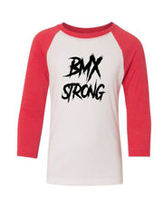 BMX Strong Youth 3/4 Sleeve Raglan T-Shirt