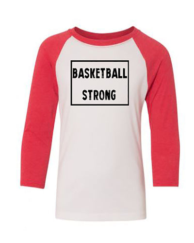 Basketball Strong Youth 3/4 Sleeve Raglan T-Shirt
