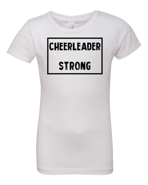 White Cheerleader Strong Girls Cheer T-Shirt