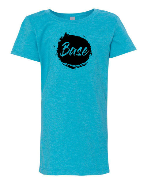 Ocean Blue Base Girls Cheer T-Shirt