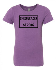 Purple Berry Cheerleader Strong Girls Cheer T-Shirt