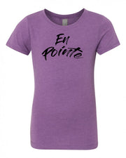 Purple Berry En Pointe Girls Dance T-Shirt