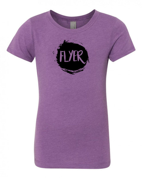 Purple Berry Flyer Girls Cheer T-Shirt