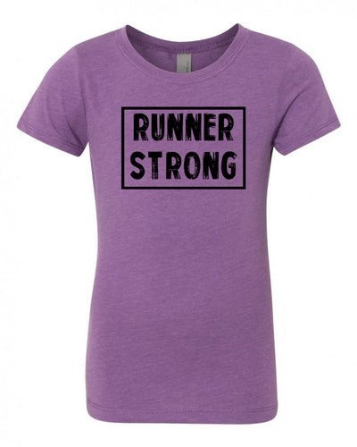 Purple Berry Runner Strong Girls Runner T-Shirt