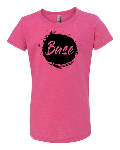 Raspberry Base Girls Cheer T-Shirt