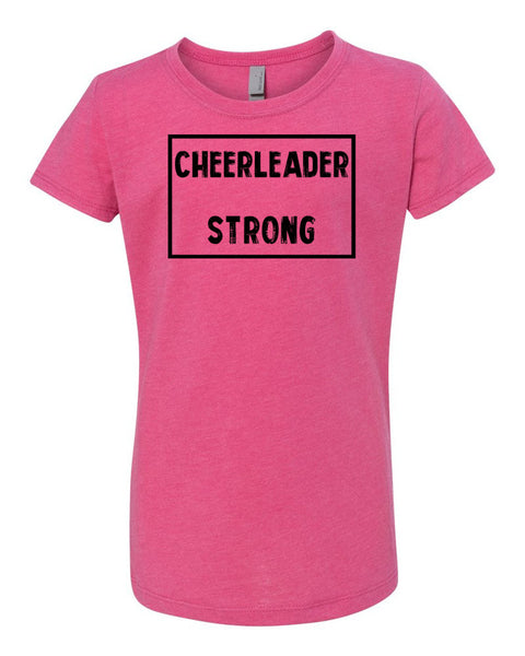 Raspberry Cheerleader Strong Girls Cheer T-Shirt