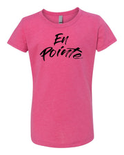 Raspberry En Pointe Girls Dance T-Shirt