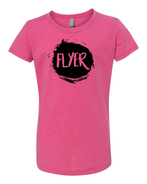 Raspberry Flyer Girls Cheer T-Shirt