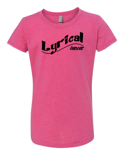 Raspberry Lyrical Dancer Girls Dance T-Shirt