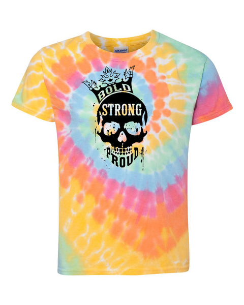 Bold Strong Proud Adult Tie Dye T-Shirt