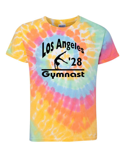 LA 2028 Gymnast Youth Tie Dye Gymnastics T-Shirt