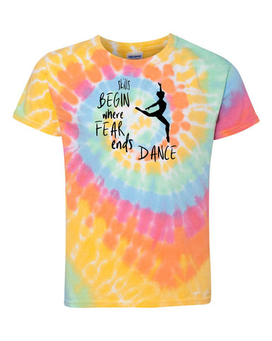 Skills Begin Where Fear Ends Dance Tees Tanks Hoodies