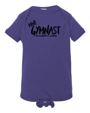 Purple Mini Gymnast Baby Gymnastics Onesie